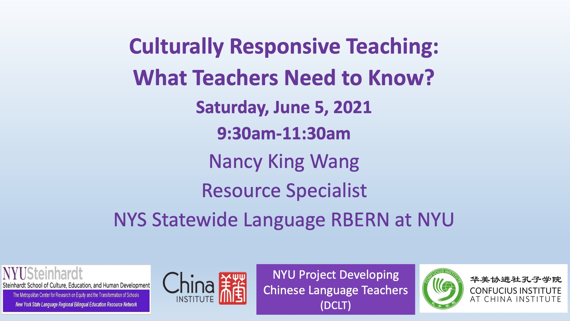 Culturally Responsive Teaching: What Teachers Need to Know? 6.5.21